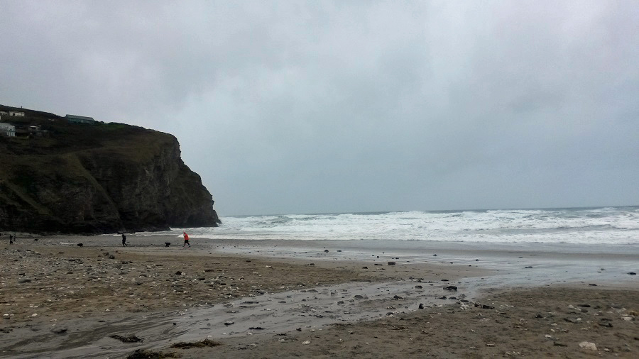 Porthtowan Beach is popular in the winter
