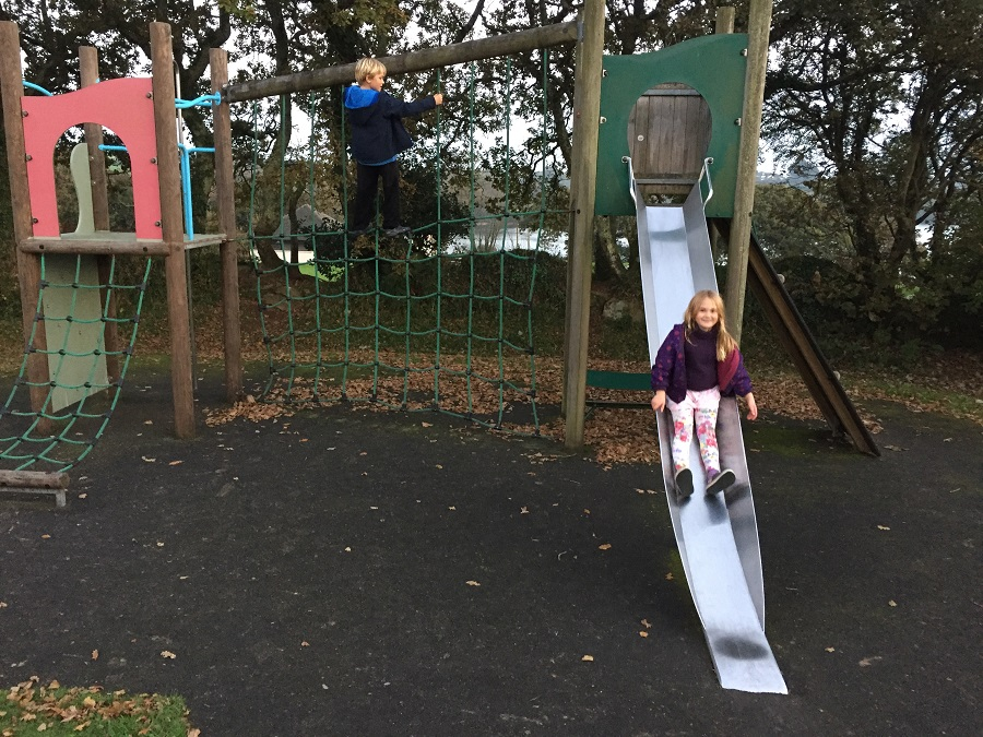 The playground at Argal is a great feature