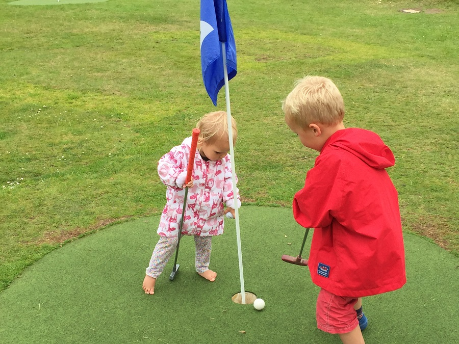 Mini golf at Lappa Valley is a big hit with preschool age children
