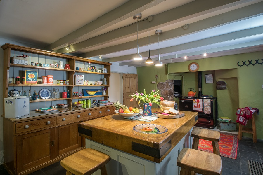 Enjoy breakfast in the kitchen at the Farmhouse