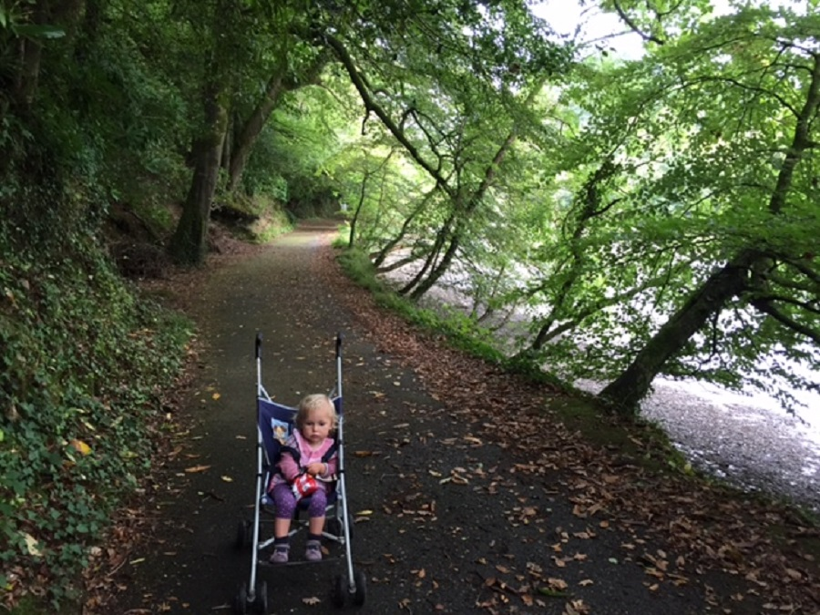The riverside walk at Lerryn is a great for a child friendly day out in Cornwall
