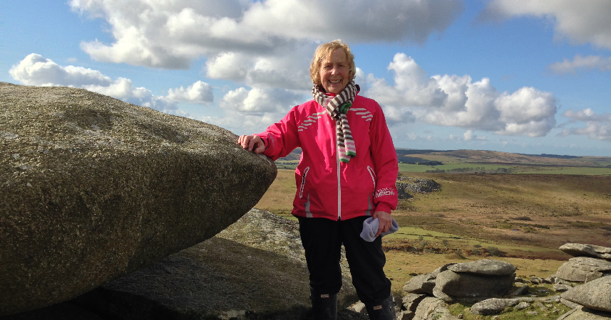 Action Nan aka Pat Smith of Bosinver Farm Cottages on Bodmin Moor