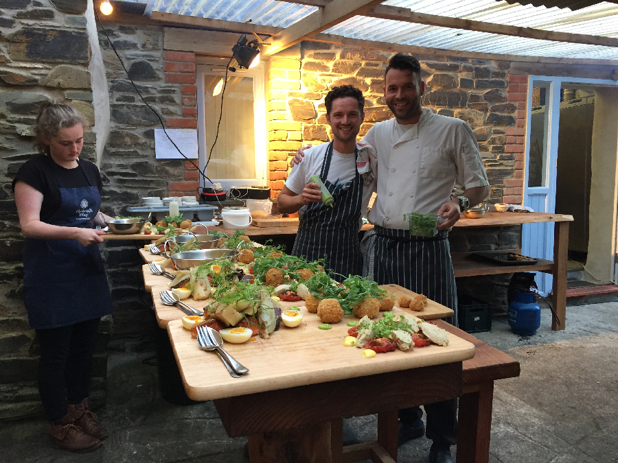 Philleigh Way Cookery School wood-fired feast