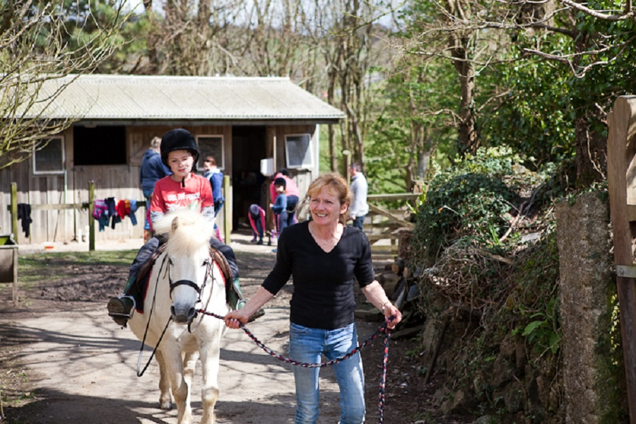 Bosinver's pony rides are a big on a toddler friendly holiday at Bosinver