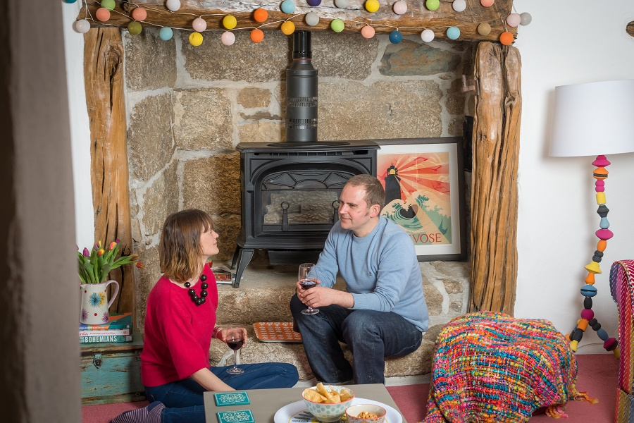 Bosinver's cottages are well equipped for winter with cosy wood burners