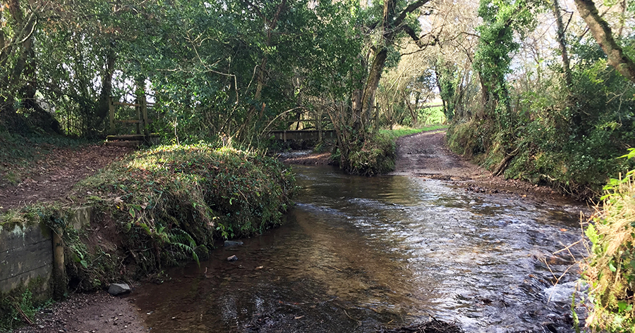 The Ruthern River along The Saints Way in Cornwall