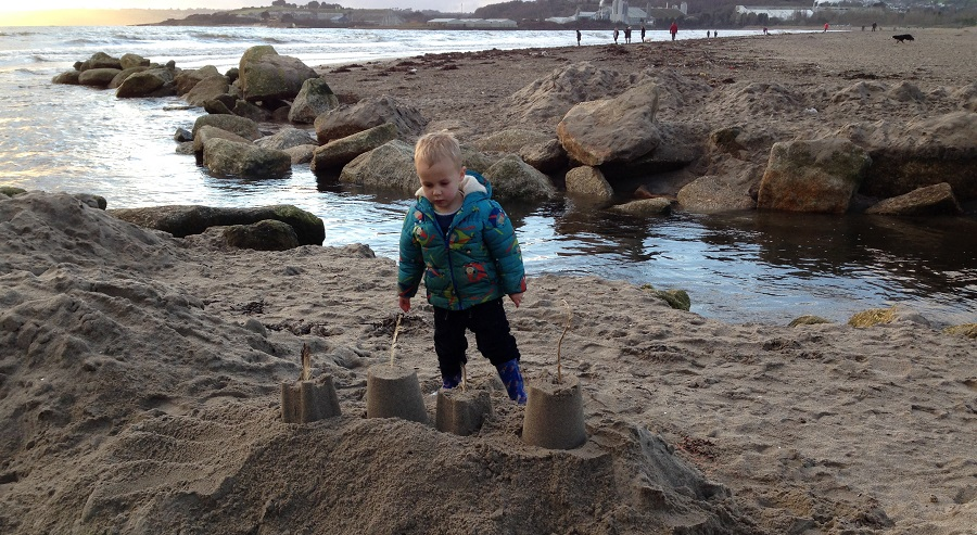 Par Sands Beach is perfect for sandcastle building