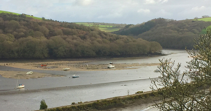 View over the River Fowey at Golant on The Saints Way, Cornwall