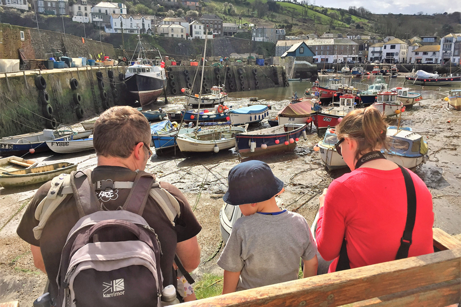 Trying the Walk With Me app by Kneehigh Theatre in Mevagissey, Cornwall