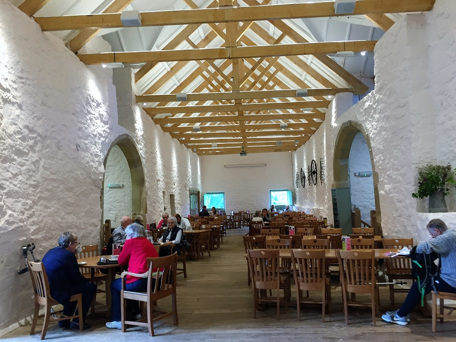 The National Trust offers excellent food at Trerice's Barn restaurant