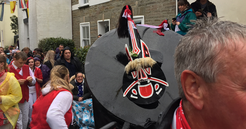 Obby Oss Day in Padstow, Cornwall