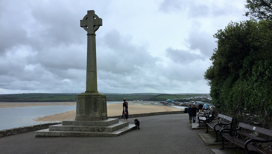 Padstow's war memorial stands out