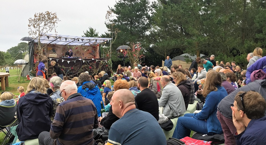 Open air theatre performances are popular in Cornwall during the summer