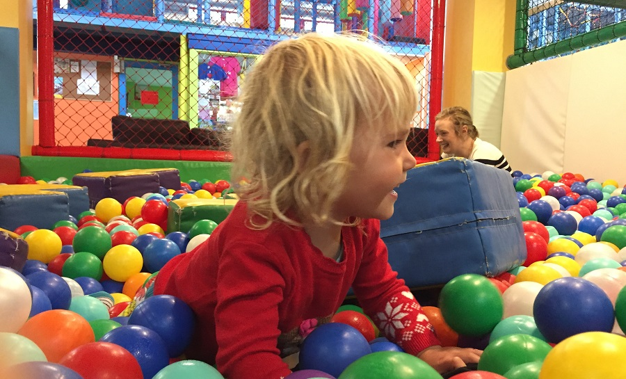Kidzworld is ideal for keeping toddlers entertained on rainy days in Cornwall
