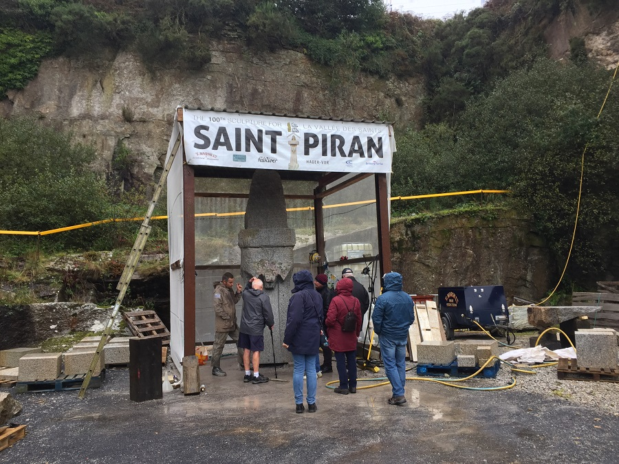 A sculpture of St Piran that stands 3.5m high is being created in Cornwall