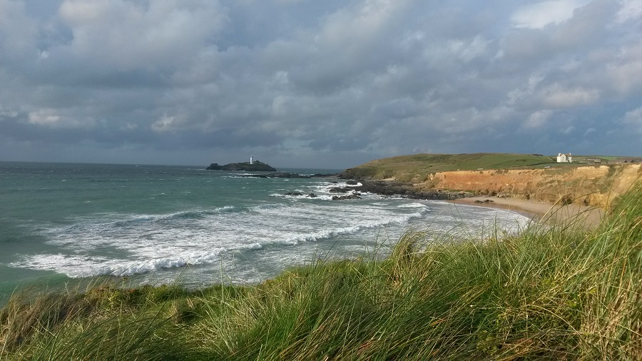Godrevy Beach is one of Cornwall's most popular beaches all year round