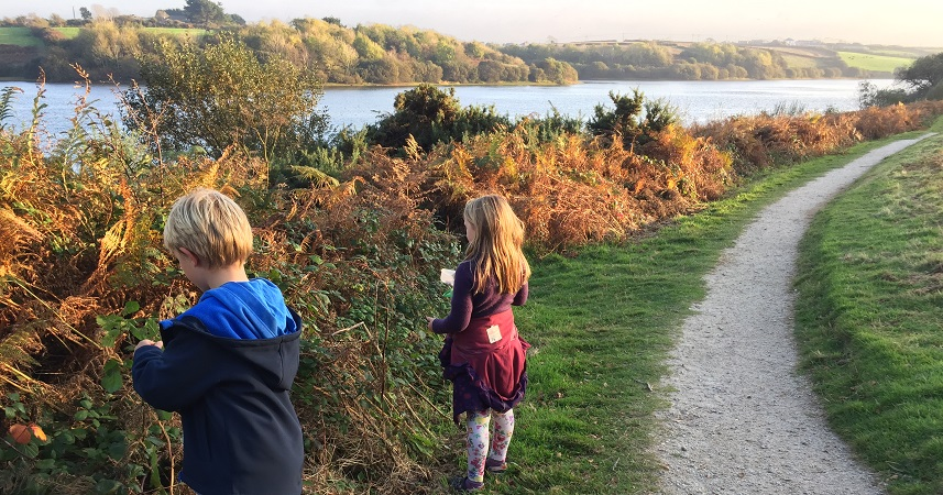 Argal Lake is a great place for picking blackberries in the autumn