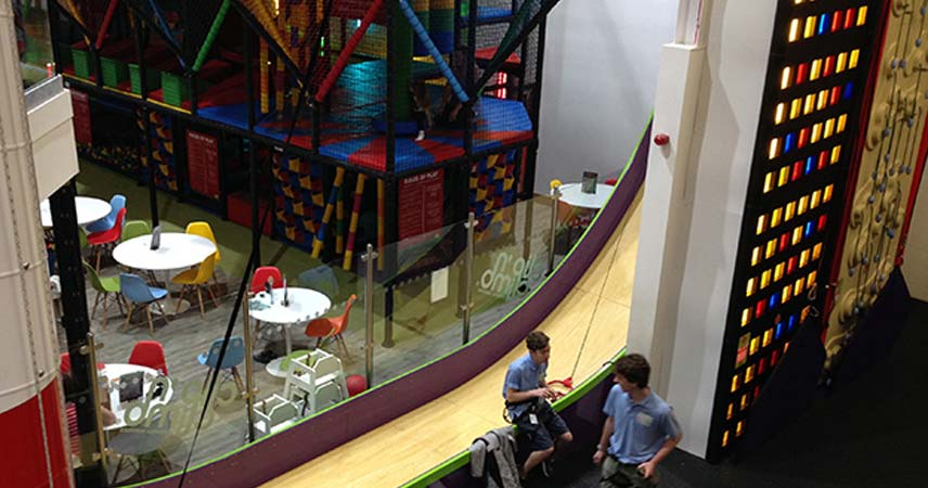 Indoor Active climbing wall at Cornwall Services