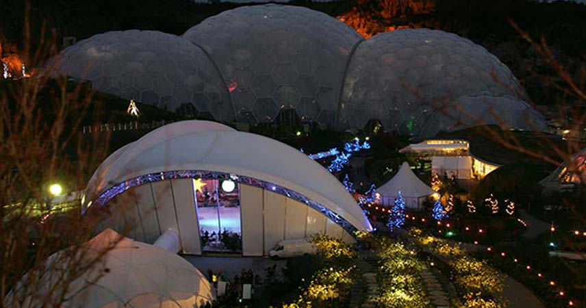 Eden Project at Christmas