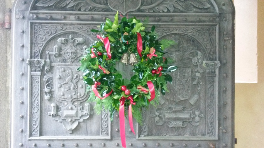 Lanhydrock House Christmas wreath