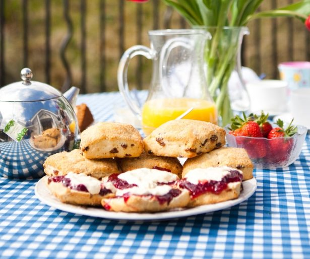 Traditional Cornish cream tea