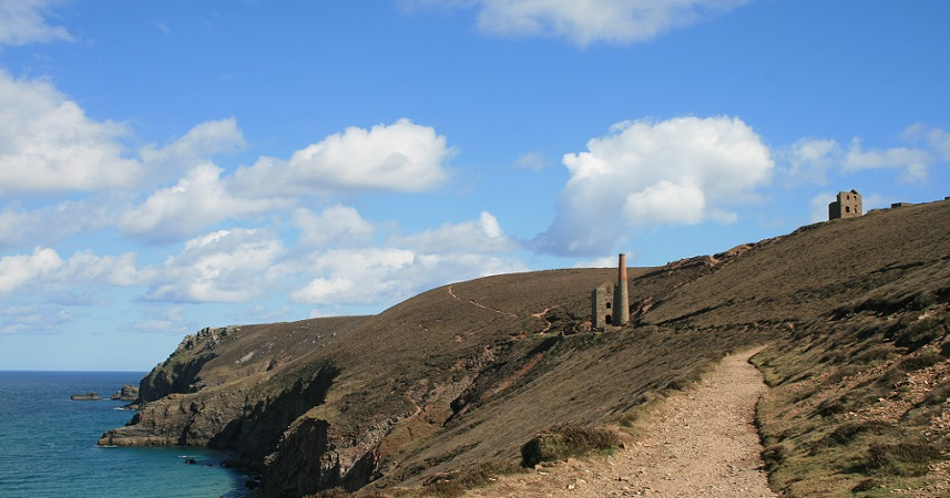 The iconic Wheal Coates lies on the South West Coast Path between St Agnes and Chapel Porth
