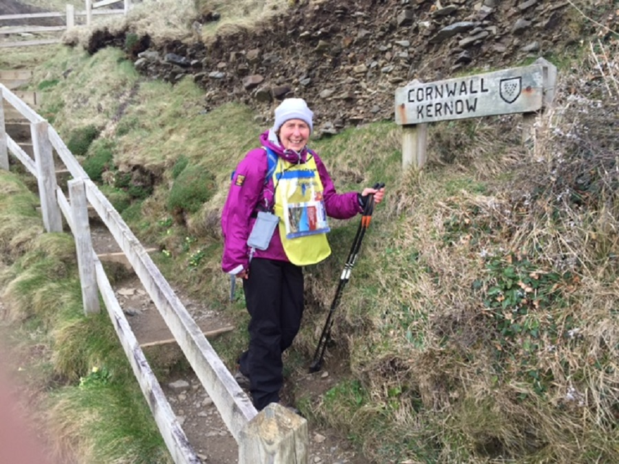 Action Nan walked the South West Coast Path to raise money for the RNLI