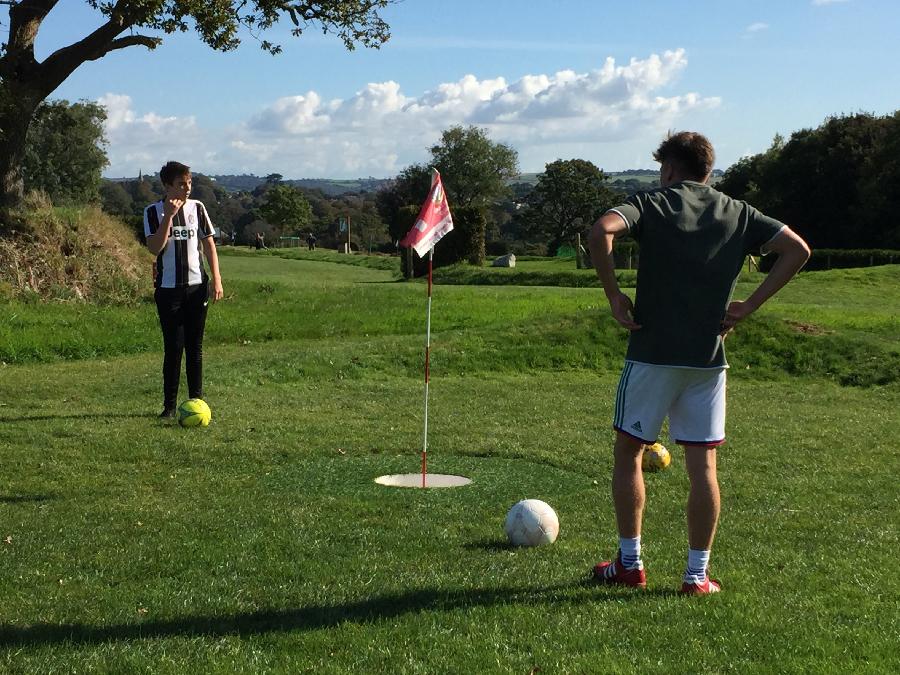 Football Golf with Action Nan at Cornwall Football Golf