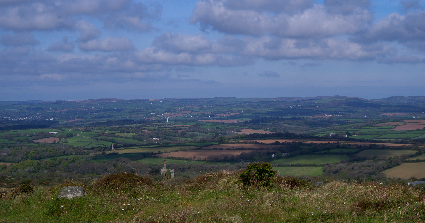 View from Godolphin Hill, Cornwall