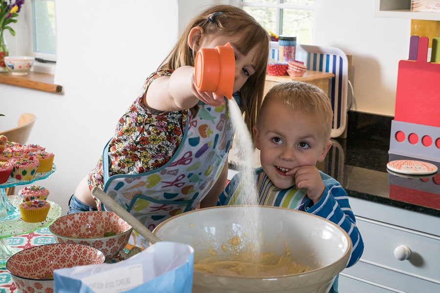 Baking is a great activity for the whole family
