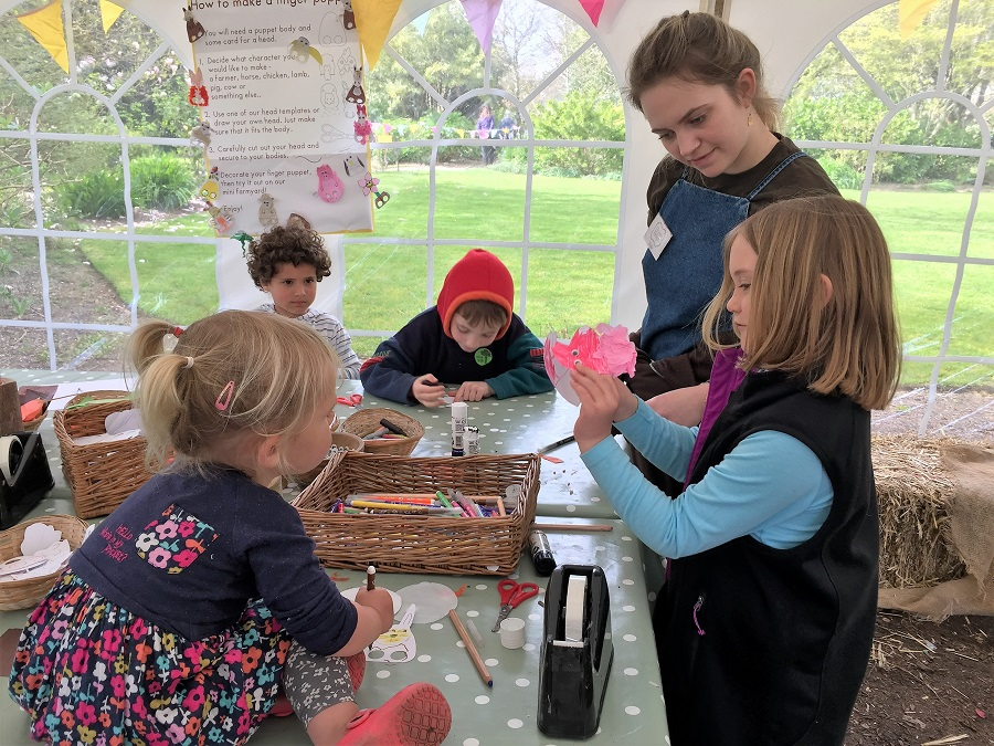 Heligan offers craft activities for children during the school holidays
