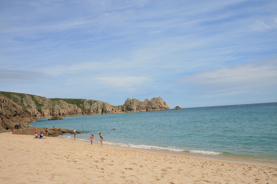 Porthcurno beach is one of our favourite picnic spots in Cornwall