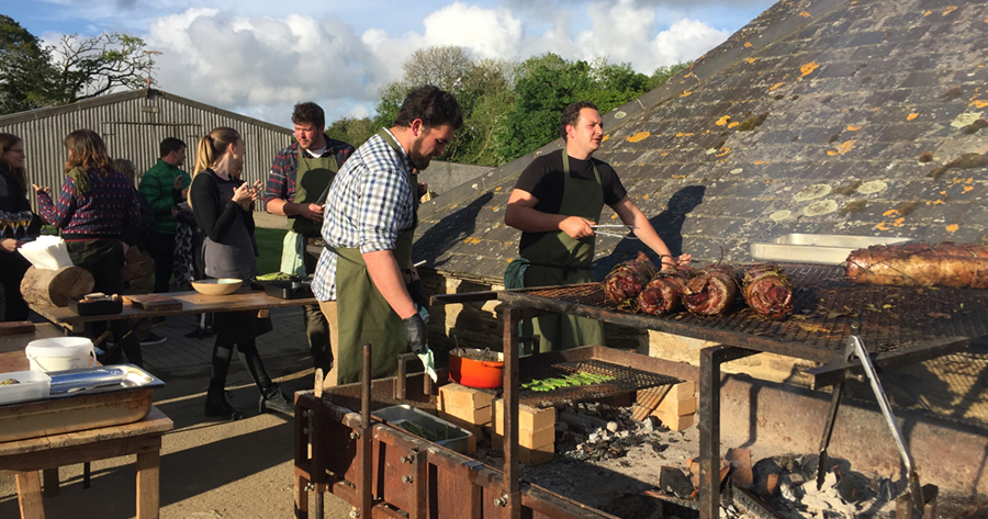 Feast night at Nancarrow Farm, Cornwall