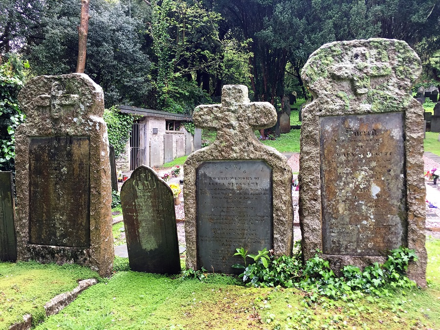 Padstow has some interesting gravestones and a tiny morgue