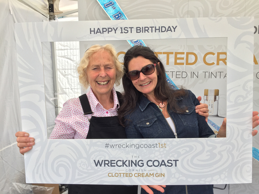Action Nan celebrates the anniversary of Wrecking Coast gin