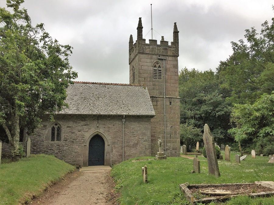 The Owlman of Mawnan Smith is said to have been seen near the church
