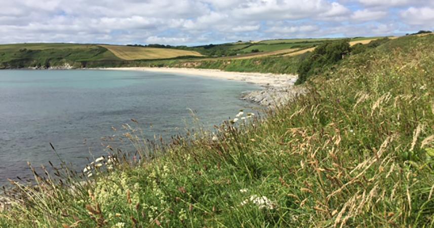 Towan beach on the Roseland Peninsula, Cornwall