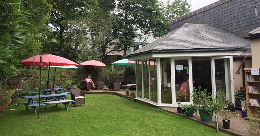 Linden Hey Garden Tearoom near Feock, Cornwall