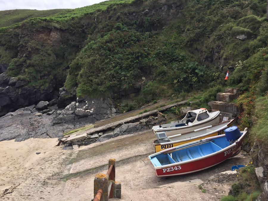Boats at Portheras Cove