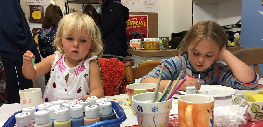 For a child friendly creative activity, try Paint a Pot in Looe