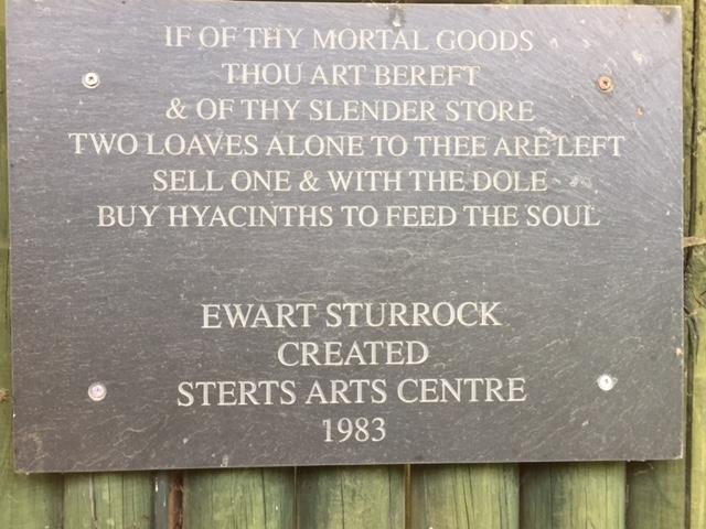 Sterts Theatre plaque