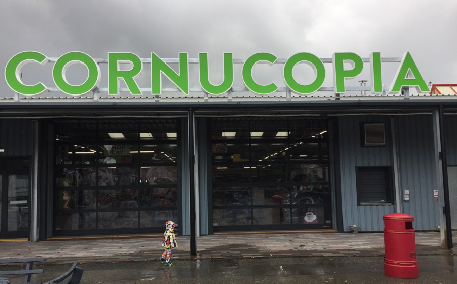 Cornucopia is located just outside St Austell