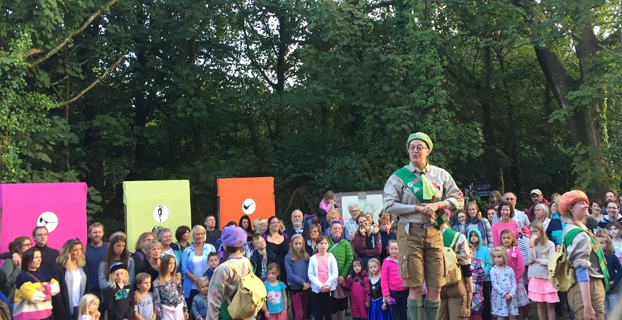 Cscape dance company took the audience on a fairlytale adventure at the Lost Gardens of Heligan