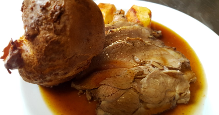 A delicious Sunday roast in Cornwall