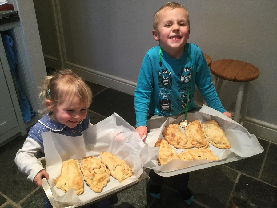 Sam and Jasmine with their home made Cornish pasties