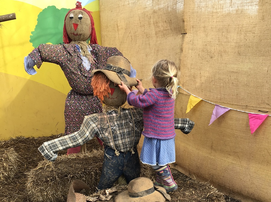 Meeting the scarecrows at Heligan