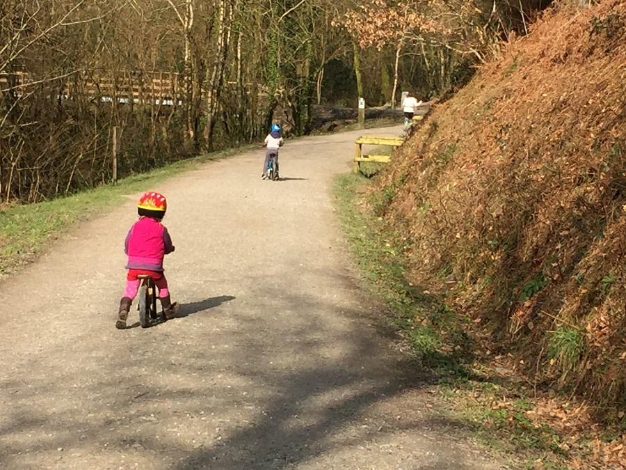 Cycling at Cardinham Woods