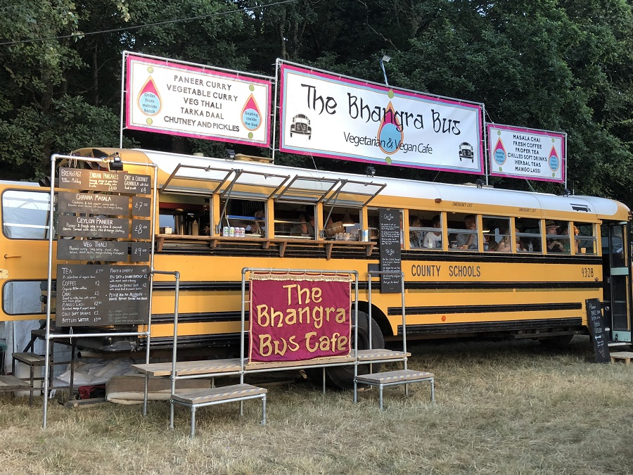 Bhangra Bus cafe at Port Eliot Festival