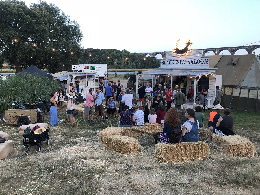 Black Cow Saloon at Port Eliot Festival, Cornwall