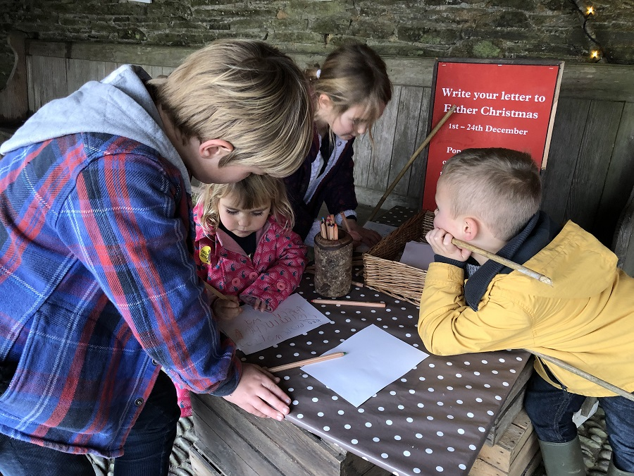 Write a letter to Father Christmas at Heligan